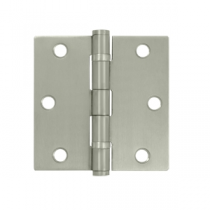 "Deltana SS35B-R 3-1/2"" x 3-1/2"" Square Corner Ball Bearing Stainless Steel Hinges (Pair) 0.085"" gauge"