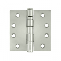 "Deltana SS44B 4"" x 4"" Ball Bearing Square Corner Stainless Steel Hinges (Pair) 0.129"" gauge"