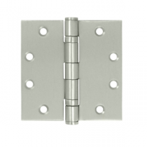 "Deltana SS45 4.5"" x 4.5""  Ball Bearing Square Corner Stainless Steel Hinges (Pair) 0.134"" gauge"