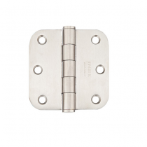 "Emtek 3-1/2"" x 3-1/2"" Stainless Steel Radius Corner Heavy Duty Hinges (Pair)"