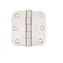 "Emtek 3-1/2"" x 3-1/2"" Stainless Steel Radius Corner Residential Duty Hinges (Pair)"