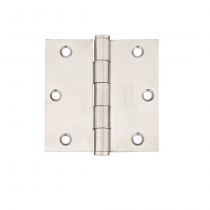 "Emtek 3-1/2"" x 3-1/2"" Stainless Steel Square Corner Residential Duty Hinges (Pair)"