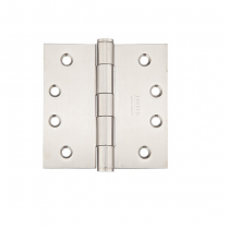 "Emtek 4-1/2"" x 4-1/2"" Stainless Steel Square Corner Heavy Duty Hinges (Pair)"