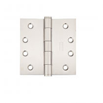 "Emtek 3-1/2"" x 3-1/2"" Stainless Steel Square Corner Heavy Duty Hinges (Pair)"