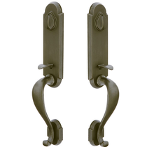 Emtek Sandcast Bronze Remington Grip By Grip Handleset