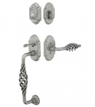 Emtek Wrought Steel Sectional Handleset With Lafayette Grip