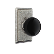 Emtek Madison Black Door Knob Set