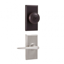 Weslock Elegance Collection 3740I-2 Knob x Urbana Lever Keyed Entry Set