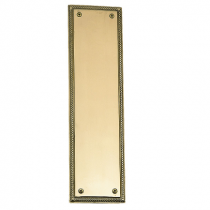 Brass Accents A06-P0240 Academy Rope Push Plate