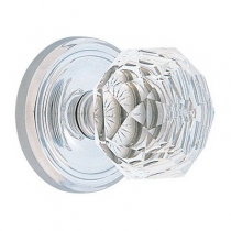 Emtek Diamond Crystal Door Knob Set