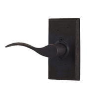 Weslock Molten Bronze Collection Carlow Keyed Entry Lever Set with choice of decorative rose