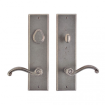 "Rocky Mountain 3-1/2"" x 13"" Rectangular Entry Set with choice of Knob or Lever (5-1/2"" C-C)"