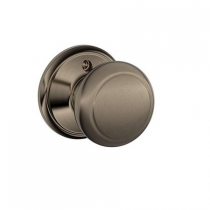 Schlage F170-AND Andover Single Dummy Door Knob from the F-Series