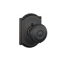 Schlage F170-GEO-CAM Georgian Single Dummy Door Knob with Camelot Rose