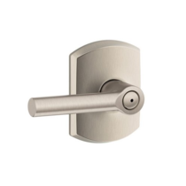Schlage F40-BRW-GRW Broadway Privacy Door Lever Set with Greenwich Rose