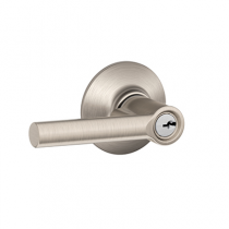 Schlage F51A-BRW Broadway Keyed Entry Door Lever Set
