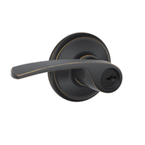 Schlage F51A-MER F-Series Merano Keyed Entry Door Lever Set