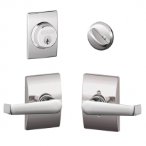 Schlage F57 F59 ELA/CEN Century Collection Single Cylinder Deadbolt with Elan Passage Lever