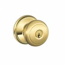 Schlage F80-AND Andover Storeroom Door Knob Set from the F-Series