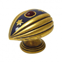 Emenee FAB1001-RG Easter Egg Pendant Cabinet Knob in Russian Gold