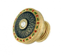 Emenee FAB1005-RG Faberge Round Parasol Cabinet Knob in Russian Gold