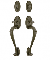Emtek Tuscany Lost Wax Cast Bronze Sectional Grip By Grip Handleset