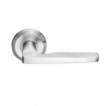 Emtek Hermes Cast Stainless Steel Door Lever Set