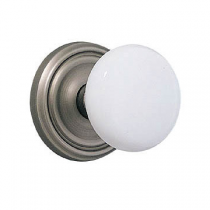 Emtek Ice White Door Knob Set