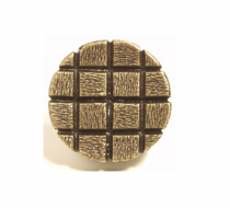 Emenee OR339 Textured Checkerboard Circle Cabinet Knob