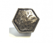 Emenee OR361 Small Hammered Ocatagon Cabinet Knob