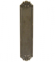 Emtek Lost Wax Cast Bronze Petal Push Plate