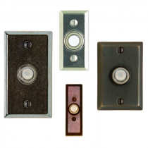 Rocky Mountain Rectangular Door Bell Button