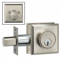 Omnia RECTDB Rectangular Auxillary Deadbolt from the Prodigy Collection