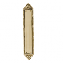 Brass Accents A05-P7230 Ribbon and Reed Push Plate
