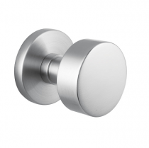 Emtek Round Cast Stainless Steel Door Knob Set