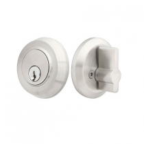 Emtek S50001 Stainless Steel Round Single Cylinder Deadbolt