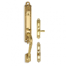 Omnia Southampton Mortise Entrance Handleset