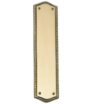 Brass Accents A06-P0250 Trafalgar Push Plate (Oval Rope)
