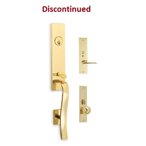 Omnia Waldorf Mortise Entrance Handleset