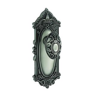 Grandeur Grande Victorian Backplate with Grande Victorian knob AP Antique Pewter