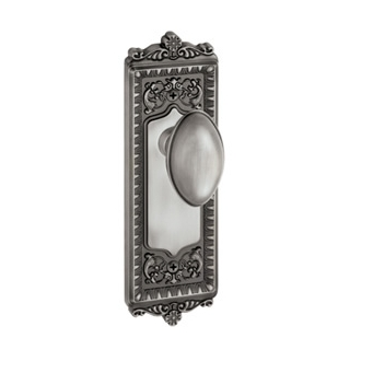 Granduer Windsor Backplate with Eden Prairie knob Antique Pewter