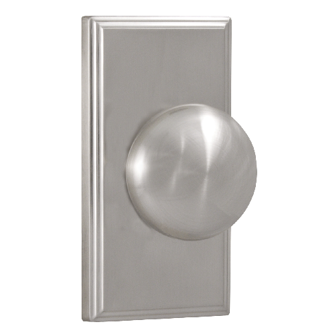 Weslock 3705I Dummy with Square Rose Satin Nickel