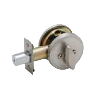 Beau Dexter JD81 One Sided Deadbolt With Plate 619 Satin Nickel