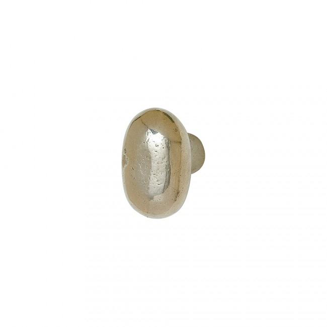 Rocky Mountain KB50 Small Potato Knob shown in White Bronze Light Patina
