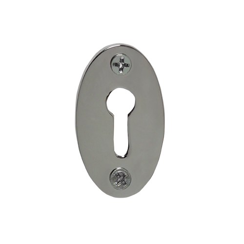 Nostalgic Warehouse KHLCLA Plain Keyhole Cover Bright Chrome (BC)