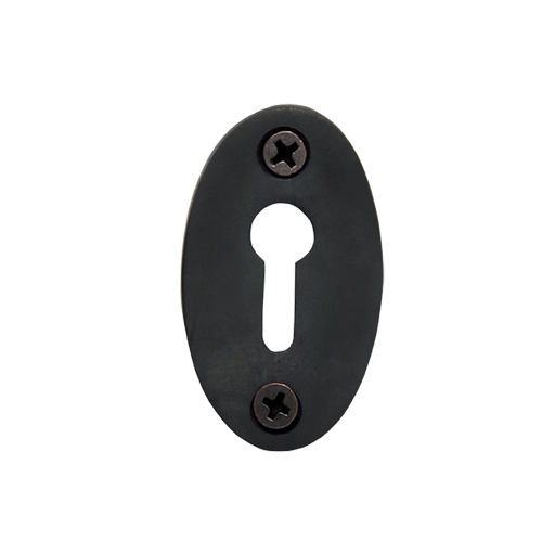Nostalgic Warehouse KHLCLA Plain Keyhole Cover Oil Rubbed Bronze (OB)