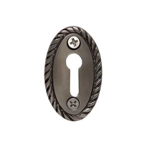 Nostalgic Warehouse KHLROP Rope Keyhole Cover Antique Pewter (AP)