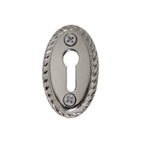 Nostalgic Warehouse KHLROP Rope Keyhole Cover Bright Chrome (BC)