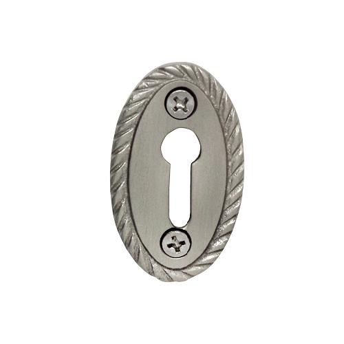 Nostalgic Warehouse KHLROP Rope Keyhole Cover Satin Nickel (SN)