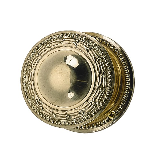 Brass Accents Laurel Rosette with choice of knob or lever